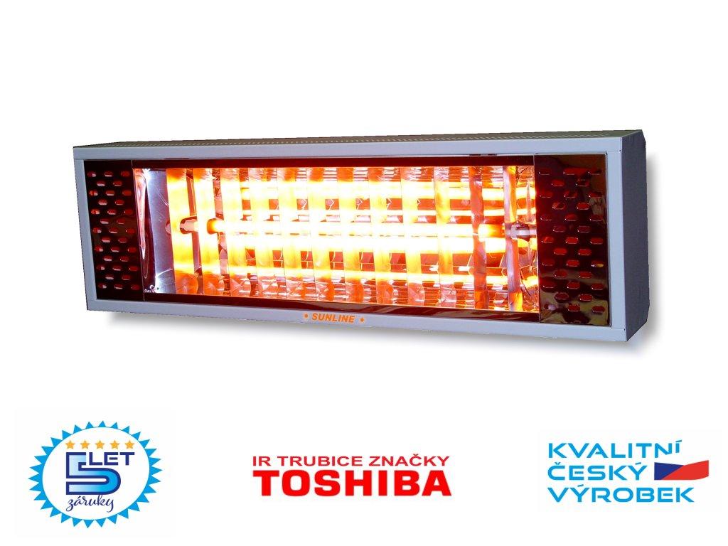 Elektrický infračervený zářič infrazářič SUNLINE SE2000