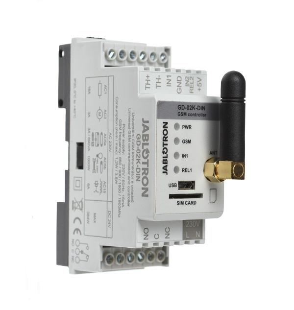 Jablotron Univerzální GSM komunikátor a ovladač, GD-02K-DIN