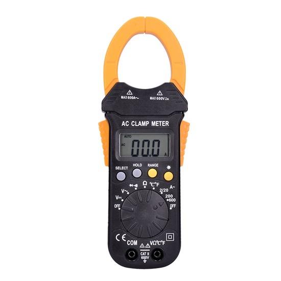 Solight Klešťový multimetr, max. AC 600V/600A, max. DC 600V, test diody, bzučák, odpor, teplota