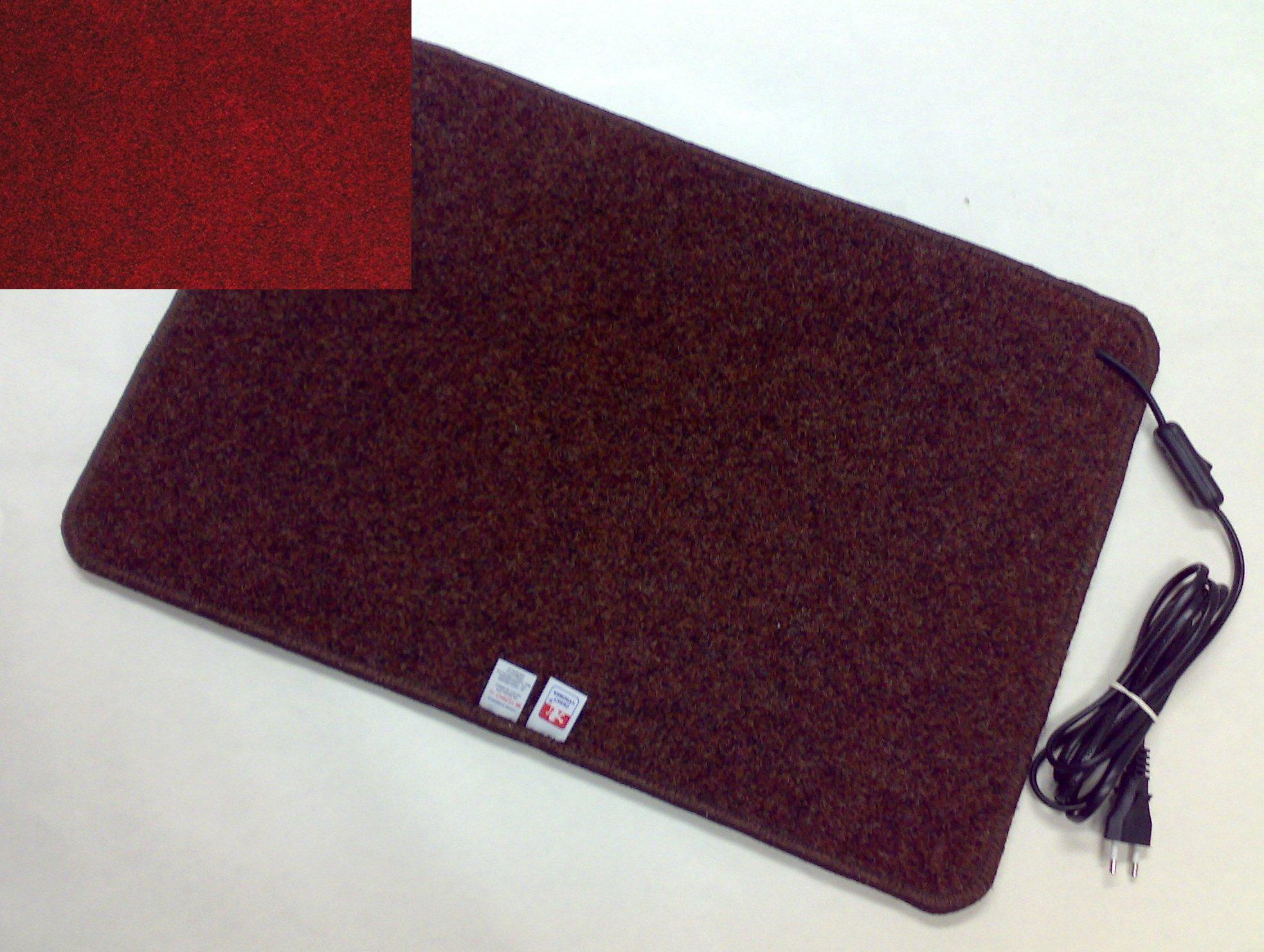 Topný koberec 60 x 90cm / 100W Barva: Vínový Z40