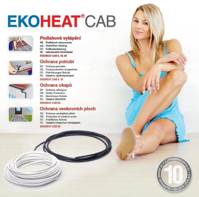 EKOHEAT CAB 20 UV Délka / výkon: 79m / 1580W