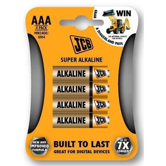 JCB SUPER alkalická baterie LR03, AAA, blistr 4 ks