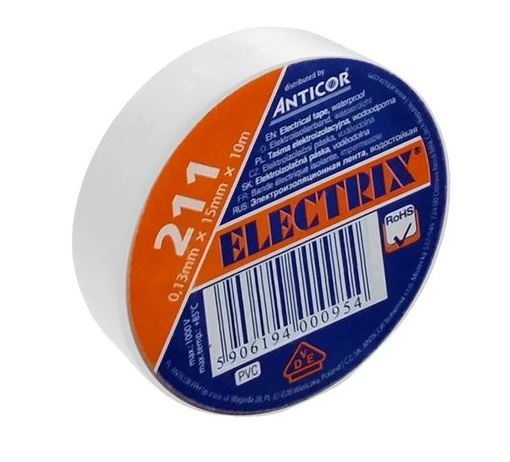 ANTICOR Izolační páska PVC 15mm / 10m bílá