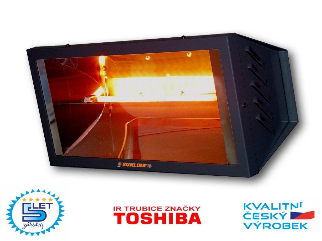 Elektrický infračervený zářič infrazářič SUNLINE SP1500 (grafitový)