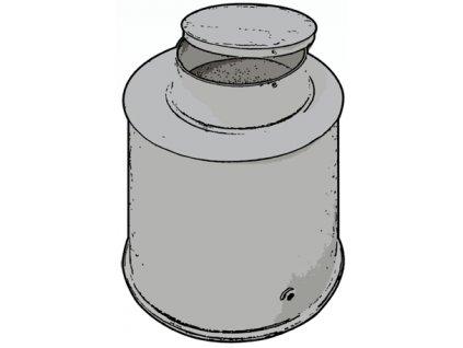 Vodomerná šachta - priemer 1m x výška 1m + 0,3m