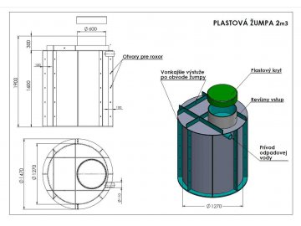 plastova zumpa 2m3