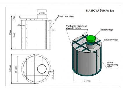 plastova zumpa 5m3