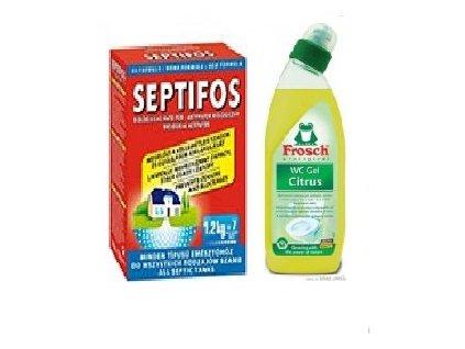 Septifos 1,2 kg + WC gel Frosch Citrón