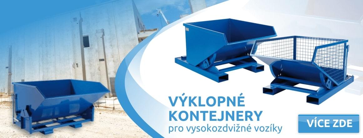 Výklopné kontejnery pro VZV, vysokozdvižný vozík