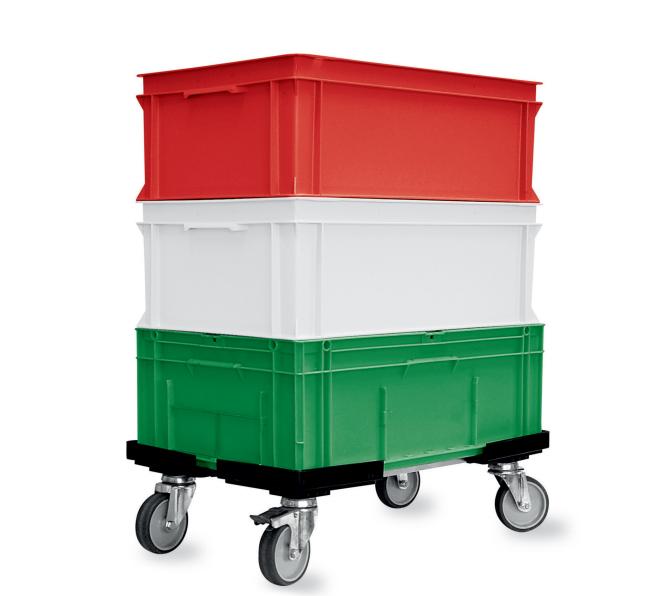 Plošinové vozíky na přepravky