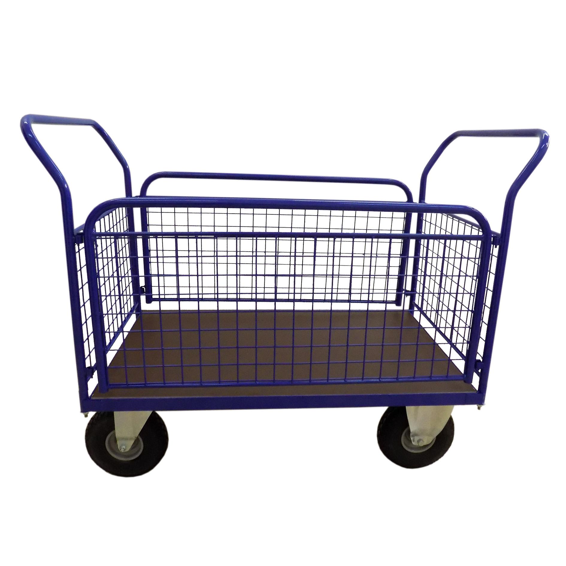 Plošinové vozíky se 2 madly a bočnicemi