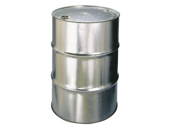 Kovový sud 200 l - 2 zátky ve víku