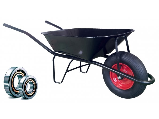 Stavební kolečko PROFI 60l nafukovací pneumatika KULIČKOVÁ LOŽISKA KSLN01