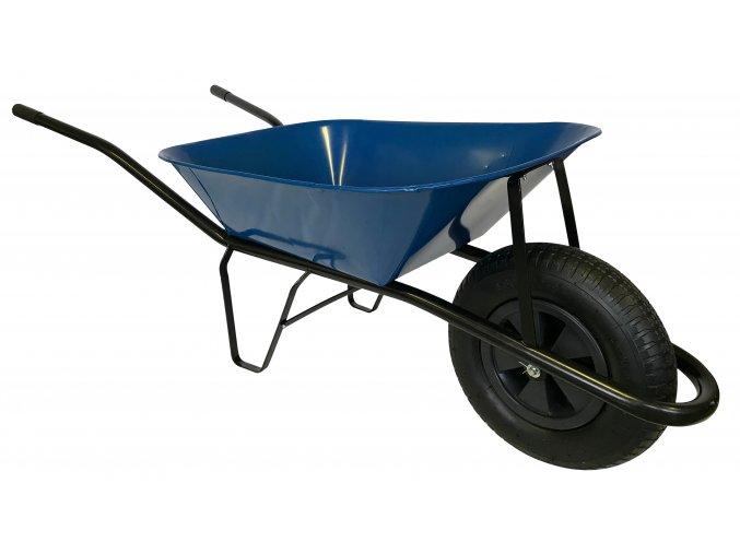 2208 stavebni kolecko 60l s nafukovaci pneumatikou ks41 modra korba