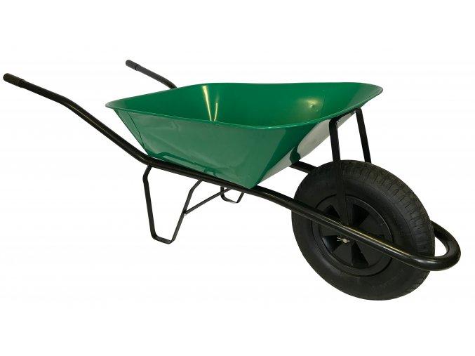 2211 stavebni kolecko 60l s nafukovaci pneumatikou ks42 zelena korba