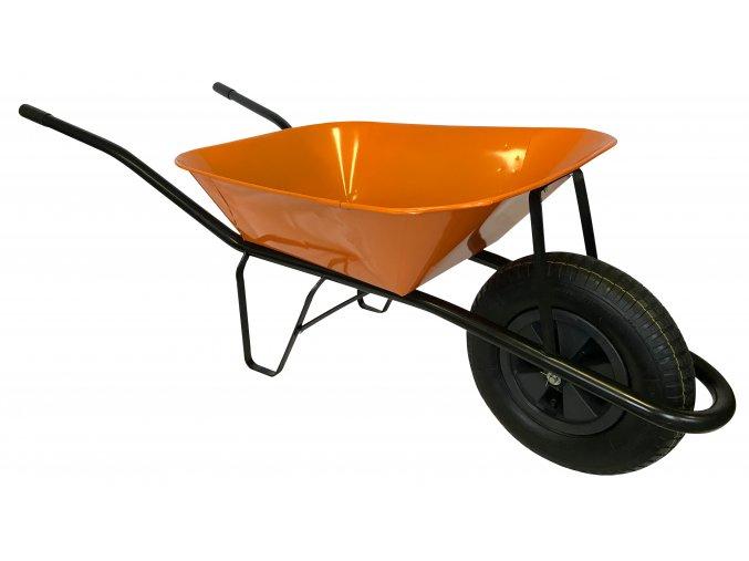 2214 stavebni kolecko 60l s nafukovaci pneumatikou ks43 oranzova korba