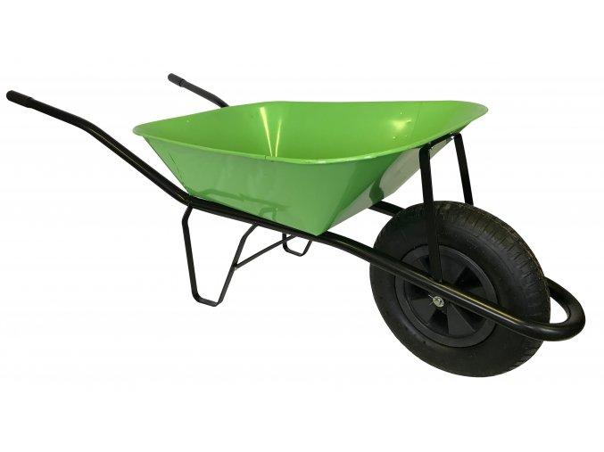 2217 stavebni kolecko 60l s nafukovaci pneumatikou ks44 svetle zelena korba