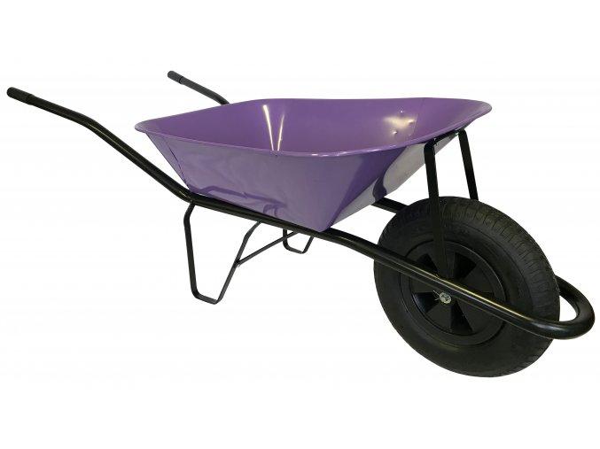 2220 stavebni kolecko 60l s nafukovaci pneumatikou ks45 fialova korba