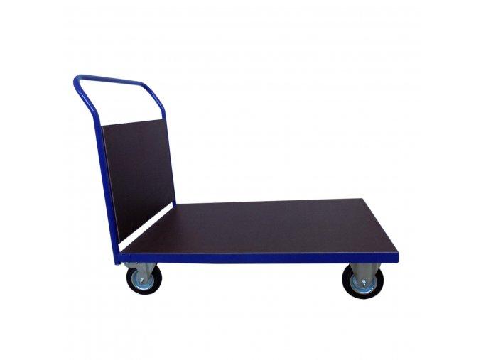 400 plosinovy vozik 1100x700 s bocni deskou 500 kg pryzova kola