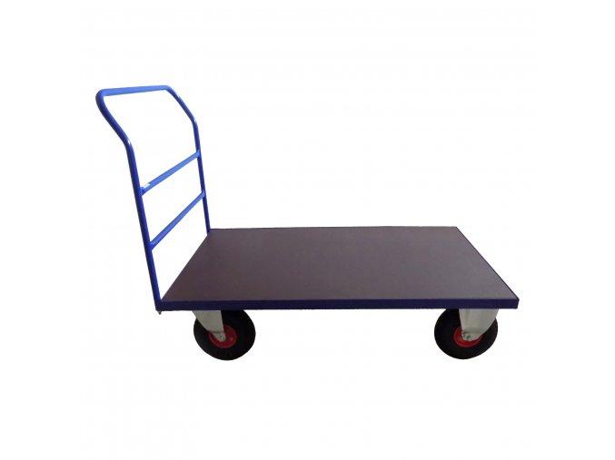 412 plosinovy vozik 1300x800 s vodorovnymi prickami 350 kg nafukovaci kola