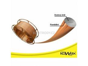 Poměděný svařovací drát G3Si11 KOWAX 1