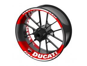 M-Style dvoudílné polepy na kola DUCATI