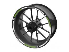 M-Style sada barevných proužků EASY na kola zelená