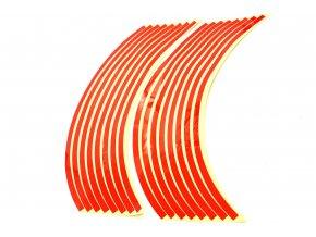 M-Style Reflexní celé proužky na kola motocyklu červená