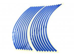 M-Style Reflexní celé proužky na kola motocyklu modrá