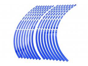 M-Style Reflexní dělené proužky na kola motocyklu modrá