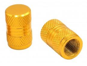 CNC Čepičky ventilků zlatá