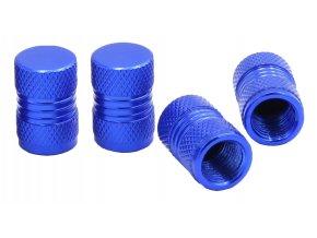 CNC Čepičky ventilků na automobil modrá