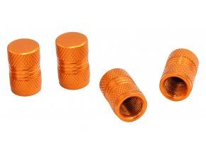 CNC Čepičky ventilků na automobil oranžová