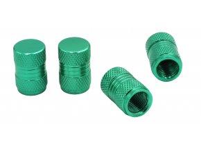 CNC Čepičky ventilků na automobil zelená