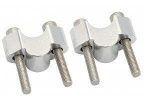 M-Style Arc 20 navýšeni řídítek 22mm stříbrná