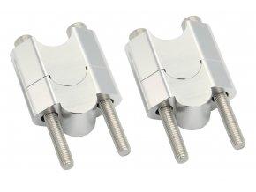 M-Style Arc 50 navýšeni řídítek 22mm stříbrná