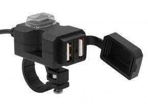 UN9 2x USB nabíječka s vypínačem
