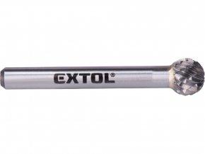 fréza karbidová, kulová, pr.10mm/stopka 6mm,sek střední (double-cut)
