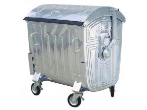 1128 kontejner zarove zinkovany kovovy 1100 litru
