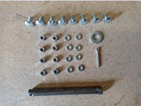 Sada šroubů a hřídele 120 mm k nafukovacímu kolečku objem korby 80L a 60L