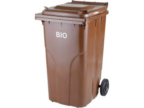 Plastová nádoba popelnice 240 l. - bio s roštem