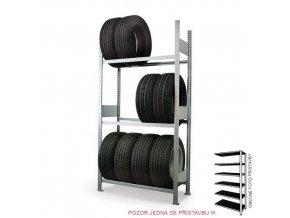 HTI Regál na pneu přístavbové pole