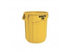 Plastová nádoba Round brute 75,7 l. - žlutý