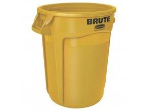 Plastová nádoba Round brute 121,1 l. - žlutý