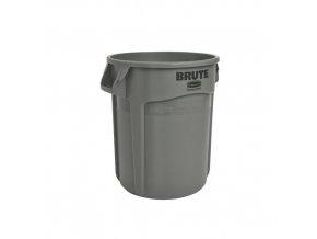 Plastová nádoba Round brute 75,7 l. - šedý