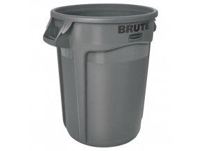 Plastová nádoba Round brute 121,1 l. - šedé