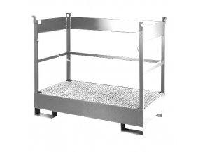 Záchytná vana pro převoz 2 sudy zinkovaná
