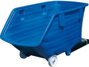 HTI Plastový výklopný kontejner - ližiny a kola