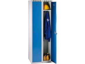 HTI Šatní skříň demont šedo/modrá 1800x600x500mm