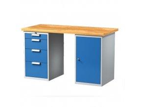 Pracovní stůl s kont. a zásuvkovou skříňkou 1500 mm